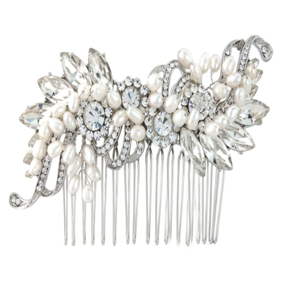 Vintage Inspired Pearl Hair Comb(HC92)