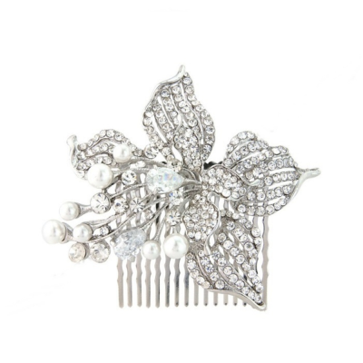 Glamorous Pearl Hair Comb - Ivory (HC93)