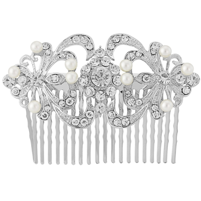 Vintage Chic Pearl Hair Comb -  (HC97)