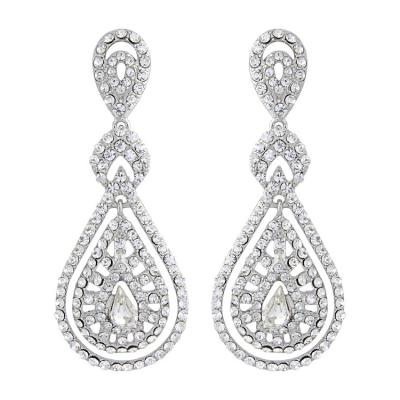 Bejewelled Art Deco Earrings - ER107