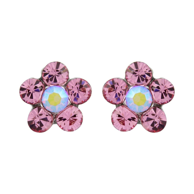 Swarovski Pretty Crystal Earrings (Light Rose)- S-ER35