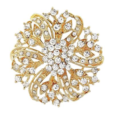 Vintage Inspired Gold Brooch