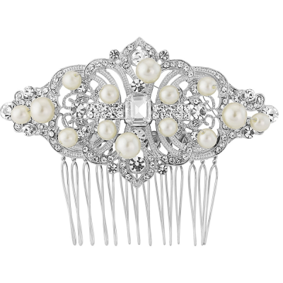 Regal Pearl Hair Comb - HC125