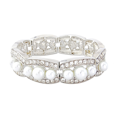 ELITE COLLECTION Chic Pearl Stretch Bracelet - BR80