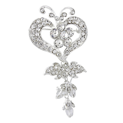Petite Crystal Bridal Brooch - SASSB-BRC5
