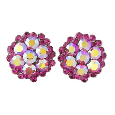 Sophie Swarovski Crystal Earrings - SASS- Fuchsia
