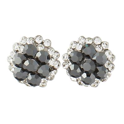 Sophie Swarovski Crystal Earrings - SASS- Black Diamond