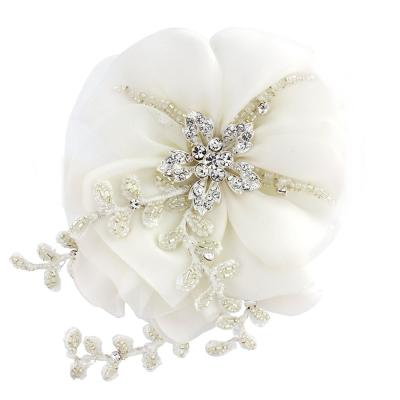 Verity Crystal Flower Headpiece - SASSB - IVORY