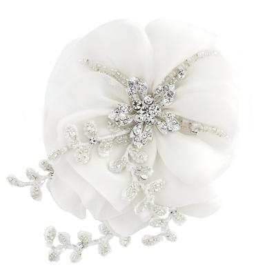 Verity Crystal Flower Headpiece - SASSB - White