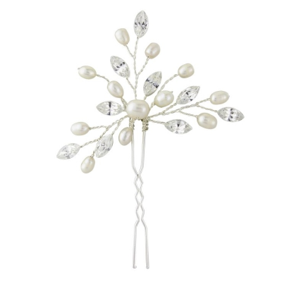 Elodie Crystal Pearl Hair Pin - SASSB- HP1