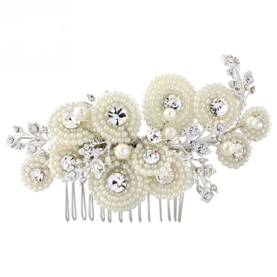 AMELIA LUXE PEARL HAIR COMB - (HC8) SASSB