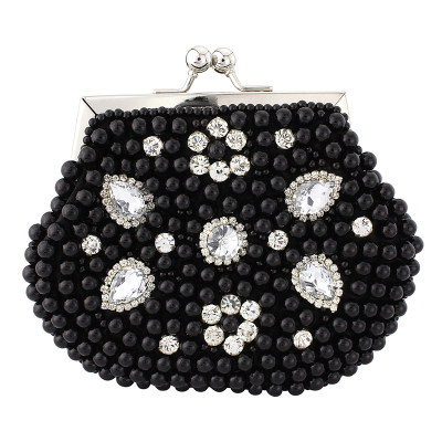 REDUCED TO CLEAR VINTAGE CHIC PEARL CLUTCH - JET  REDUCED TO CLEAR