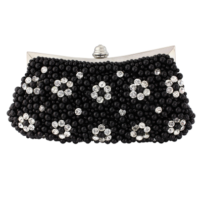 REDUCED Gatsby Glamour  Pearl Clutch - Jet