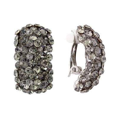 Crystal Divine Earrings (CLIP-ON) Black Diamond (ER125)