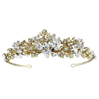 CAROLINE Tiara - SASSB - (14K Gold Plated) Tiara 2