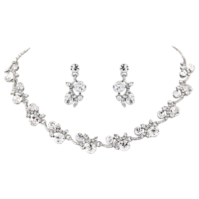 Athena Collection - Crystal Shimmer Necklace Set - NK199