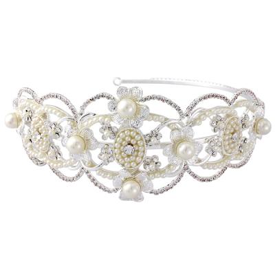 HARRIET - Gatsby Luxe Headband - (HDB18) Silver  SASSB