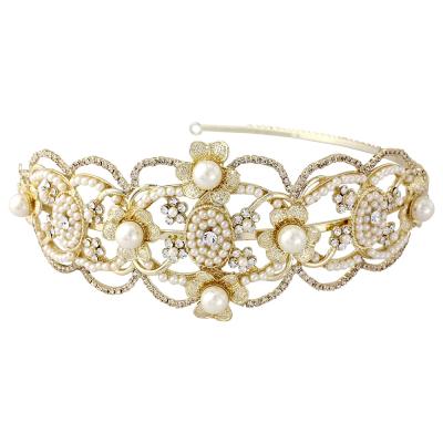 HARRIET - Gatsby Luxe Headband - (HDB18) Gold  SASSB