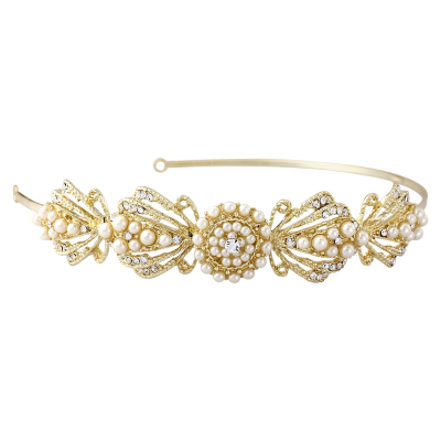 SASSB COLLECTION -ESTELLE - Chic Headband - Gold (HDB19) SASSB