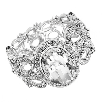 Luxurious Swarovski Crystal Cuff Bracelet - S-BR19