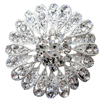 Crystal Shimmer Bridal Brooch - 22