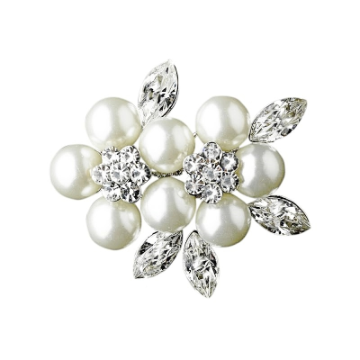 Pretty Pearl Bridal Brooch - (BRCH130)