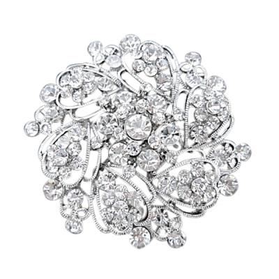 Elegant Crystal Brooch - 32