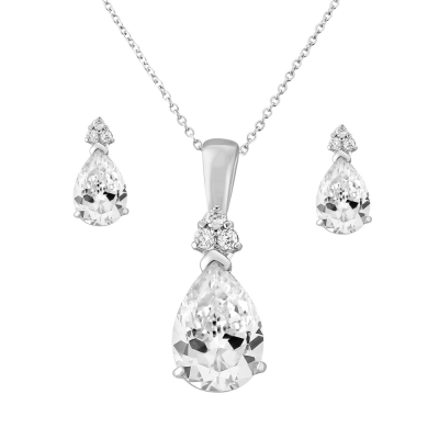 Cubic Zirconia Collection - Delicate Starlet Necklace Set - NK5