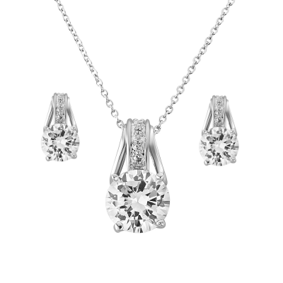 Cubic Zirconia Collection - Crystal Grace Necklace Set - NK6