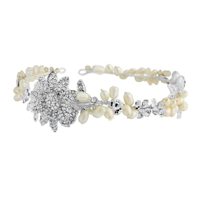 Angelica Luxe Embellished Hair Vine - Ivory - SASSB