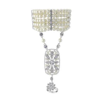 Gatsby Glam Luxe Pearl Bracelet - SASSB - Ivory