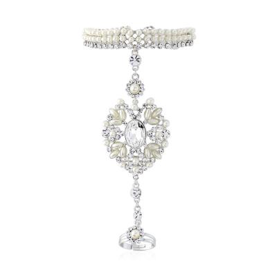 Opulence Pearl Hand Bracelet - SASSB - Ivory