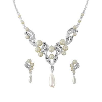 Luxe Pearl Necklace Set - NK6a - SASSB