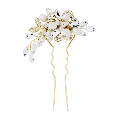 Marcia Luxe Wedding Hair Pin - Gold HP6  - SASSB
