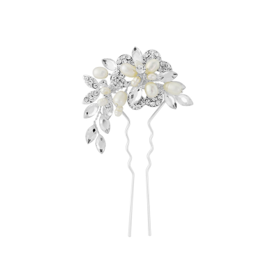 Marcia Luxe Wedding Hair Pin -  SASSB - Silver HP6