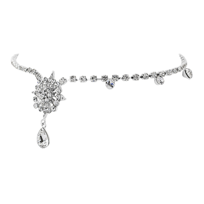 Chantilly Crystal Luxe Brow Band - SASSB - Silver