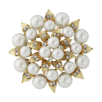 Starlet Chic Pearl Brooch - Gold - BRCH133