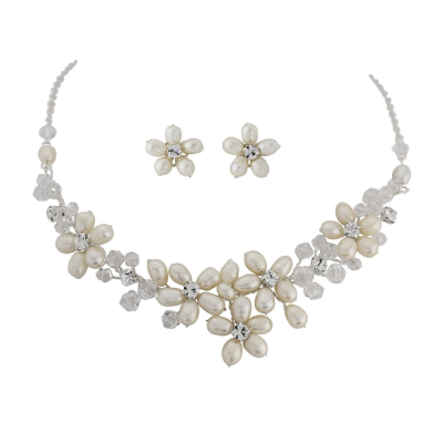 Enchanting Pearl Necklace Set - SASSB - NK7a