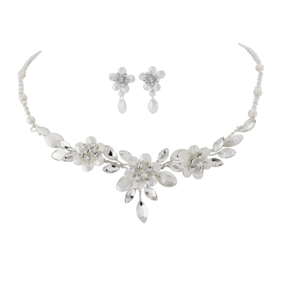 Floral Treasure Necklace Set -  NK10a SASSB