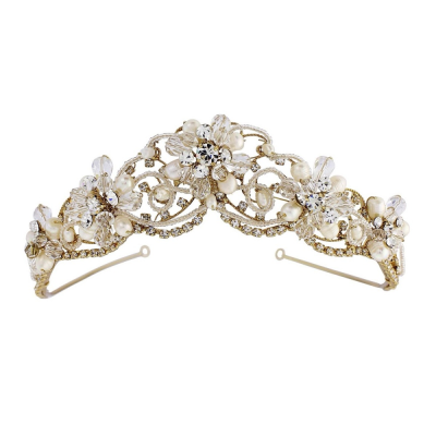 Adelina - Exquisite Treasure Tiara - 14K GOLD SASSB