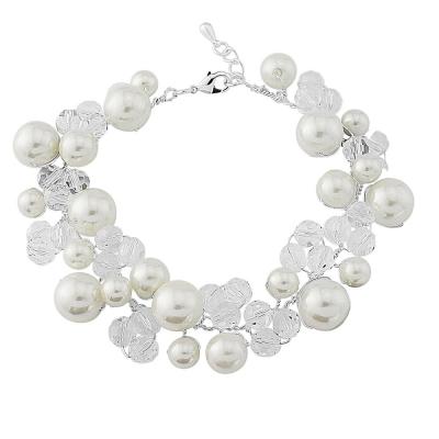 Delicate Swarovski Sparkle Bracelet - Ivory SASSB