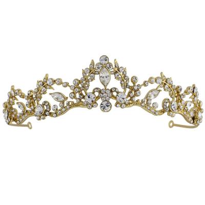 Lavina Tiara - Crystal Embellished - 14K Gold Plated- SASSB