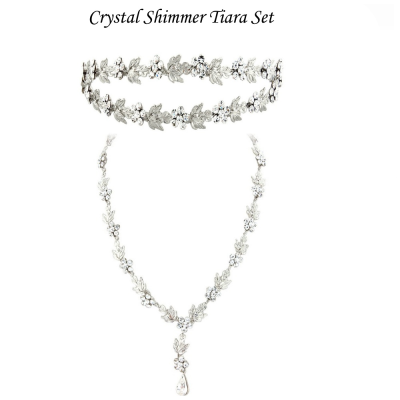 Crystal Shimmer Tiara Set - Elite