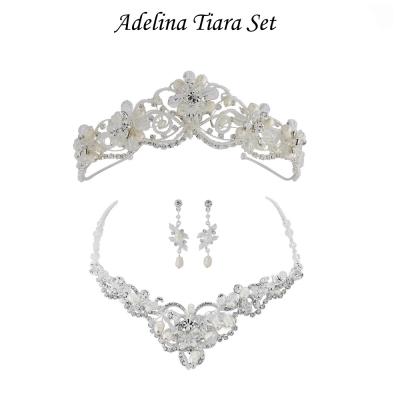 Adelina Tiara Set - Ivory - SassB