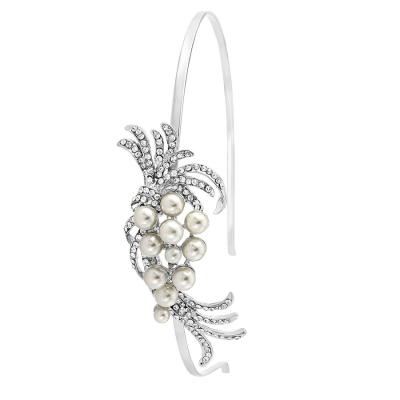 Chic Pearl Headband - HB401 (silver)