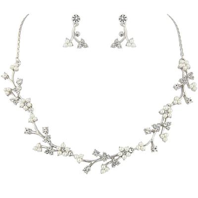 Athena Collection - Dainty Daisy Necklace Set - NK164