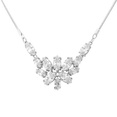 Cubic Zirconia Necklace - Pretty Chic - CZNK19