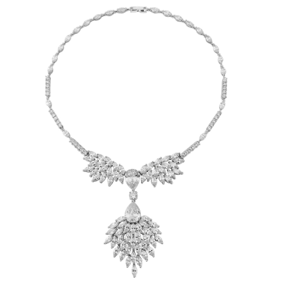 Cubic Zirconia Collection - Statement Necklace - CZNK17
