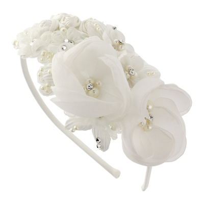Melina Beauty Hair Band - SASSB Ivory HDB32