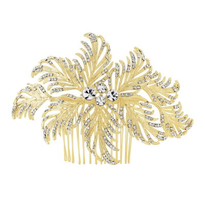 ELITE COLLECTION - Gatsby Glam Hair Comb - GOLD-HC203